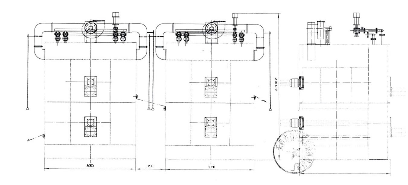 MA820立式无涨力热风烘燥机 本机采用进口德国资料,对本机进行改进,适用于我国针织、无纺布、人造纤维、合成纤维、棉织物,特别对高档薄型织物可达到预缩力,烘燥时可变频调速上下速度,使织物缩力得到满意效果,手感好、无损伤,上下运作时,织物无涨力。 电机总功率:18千瓦 烘燥速度:变频调节,布速2.